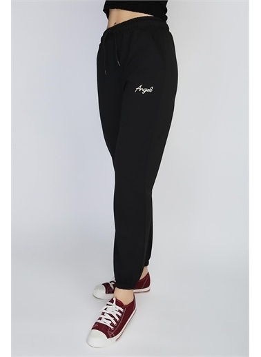Rodi Jeans Kadın Angel Nakışlı Paça Lastikli Alt Eşofman Ds21Yb091018 Siyah